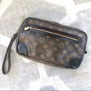 Authentic Louis Vuitton Clutch Wristlet Dyed Black